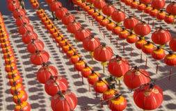 Hundreds of red lantern. Royalty Free Stock Photos
