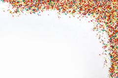 Hundreds and thousands baking sprinkles royalty free stock photography