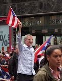 Mayor Bill De Blasio At The Puerto Rican Day Parade. Hundreds of thousands came out to celebrate the National Puerto Rican Day Parade 2018 in Manhattan, NY. The Stock Image
