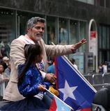 Esai Morales At The  Puerto Rican Day Parade 2018. Hundreds of thousands came out to celebrate the National Puerto Rican Day Parade 2018 in Manhattan, NY. The Royalty Free Stock Image
