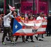 2018 Puerto Rican Day Parade. Hundreds of thousands came out to celebrate the National Puerto Rican Day Parade 2018 in Manhattan, NY. The Impact of Hurricane Royalty Free Stock Photography