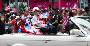 2018 Puerto Rican Day Parade. Hundreds of thousands came out to celebrate the National Puerto Rican Day Parade 2018 in Manhattan, NY. The Impact of Hurricane Royalty Free Stock Photos