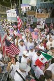 Hundreds of thousands of immigrants Stock Photos