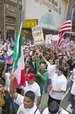 Hundreds of thousands of immigrants participate in march for Immigrants and Mexicans protesting against Illegal Immigration reform. By U.S. Congress, Los royalty free stock photos
