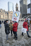 Hundreds of Torontonians converged on Nathan Philips Square Stock Image