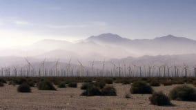 Hundreds Of Windmills Turn In The California desert