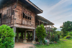 A hundreds years old ancient home, Uttaradit, Thailand. The house was handed down from family a hundreds years old ancient home is in the province of Uttaradit stock photography