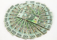 Hundreds of zloty Stock Photo