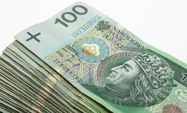 Hundreds of zloty Royalty Free Stock Images