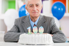 Hundredth birthday Stock Photo