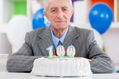 Hundredth birthday Royalty Free Stock Image