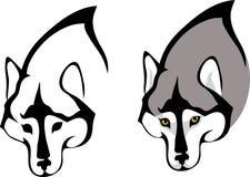 Hunds huvud med halsen, stylization Royaltyfri Illustrationer