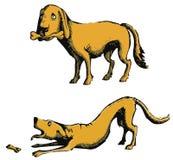 hundset stock illustrationer