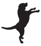 hundsilhouette stock illustrationer