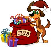 Hundsymbol av 2018 nya år Arkivbilder