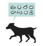 hundtillförsel vektor illustrationer