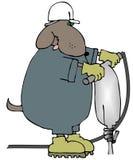 hundtryckluftsborr vektor illustrationer
