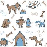 Hunduppsättning Arkivfoton
