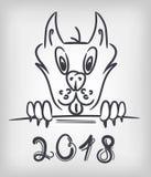 Hundvektorsymbol Royaltyfri Bild