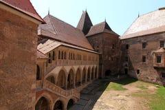 Huneazilor castle court , Romania stock photo