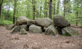 Hunebed or Dolmen near Anloo. Hunebed D11 or Dolmen near Anloo in Drenthe in the Netherlands Royalty Free Stock Photo