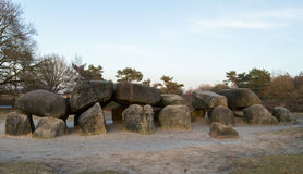 Hunebeds in Drenthe Netherlands Stock Photography