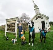 huneck собаки молельни вне s stephen Стоковое Изображение RF