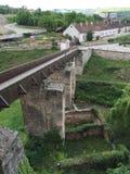 HUNEDOARA castle bridge Stock Photo