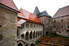 Hunedoara Castle, called Corvin Castle in Transilvania Stock Photos