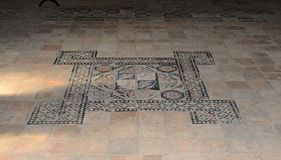 Details from the interior room of the Corvins Castle, the floor. stock photo