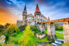 Hunedoara, Romania. Corvin`s Castle - Hunyad Castle in Hunedoara, Romania Stock Photos