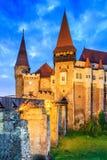 Hunedoara, Romania. Hunyad Castle - Corvin`s Castle in Hunedoara, Romania Stock Photos