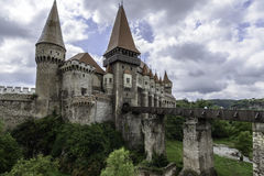 Hunedoara Rumänien, Europa, slottcorvinus Arkivbild