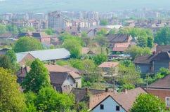 Hunedoara topview. Topview of the town Hunedoara, in Romania Royalty Free Stock Photography