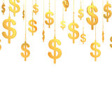 Hung Dollar golden symbols (3d render) Stock Photography