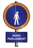 Hung parliament. Sign depicting United Kingdom hung parliament election result Stock Photography