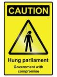 Hung Parliament Hazard Sign illustration de vecteur