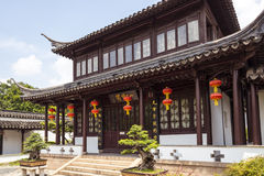 Hung with red lanterns in the Yilan pavilion Royalty Free Stock Photography