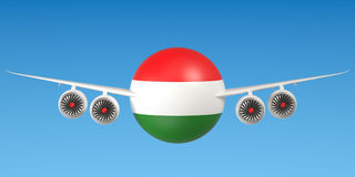 Hungarian airlines and flying& x27;s concept. 3D rendering Stock Photography