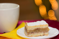 Hungarian apple. Pie slice for Christmas eve Royalty Free Stock Image
