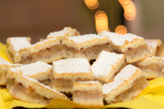 Hungarian apple pie. Slices for Christmas eve Stock Image