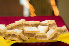 Hungarian apple pie. Slices for Christmas eve Royalty Free Stock Images