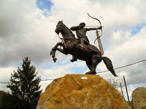 Hungarian archer rider. Memorial of Hungarian Conquest in Vecsés Royalty Free Stock Photos