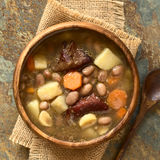 Hungarian Babgulyas Bean Soup fotografia de stock