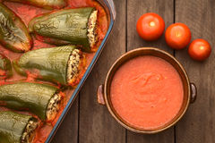 Hungarian Baked Stuffed Pepper Royalty Free Stock Photo