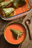Hungarian Baked Stuffed Pepper Royalty Free Stock Image