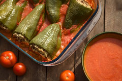 Hungarian Baked Stuffed Pepper Royalty Free Stock Images
