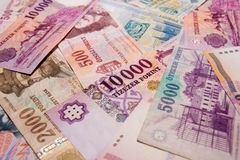 Hungarian banknotes Royalty Free Stock Photo