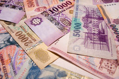 Hungarian banknotes Royalty Free Stock Images