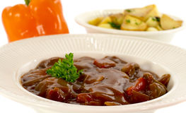Hungarian beef food Royalty Free Stock Photo